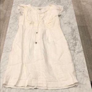 J. Crew White Linen Dress